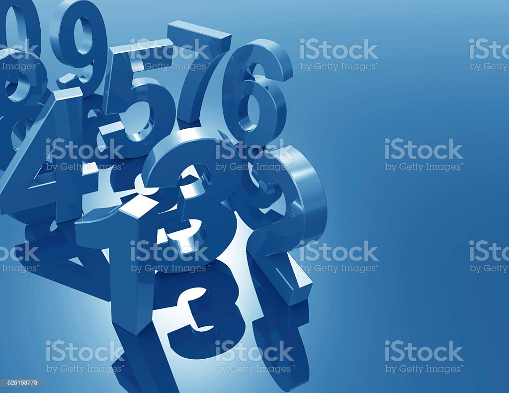 Numbers 3d concept stock photo