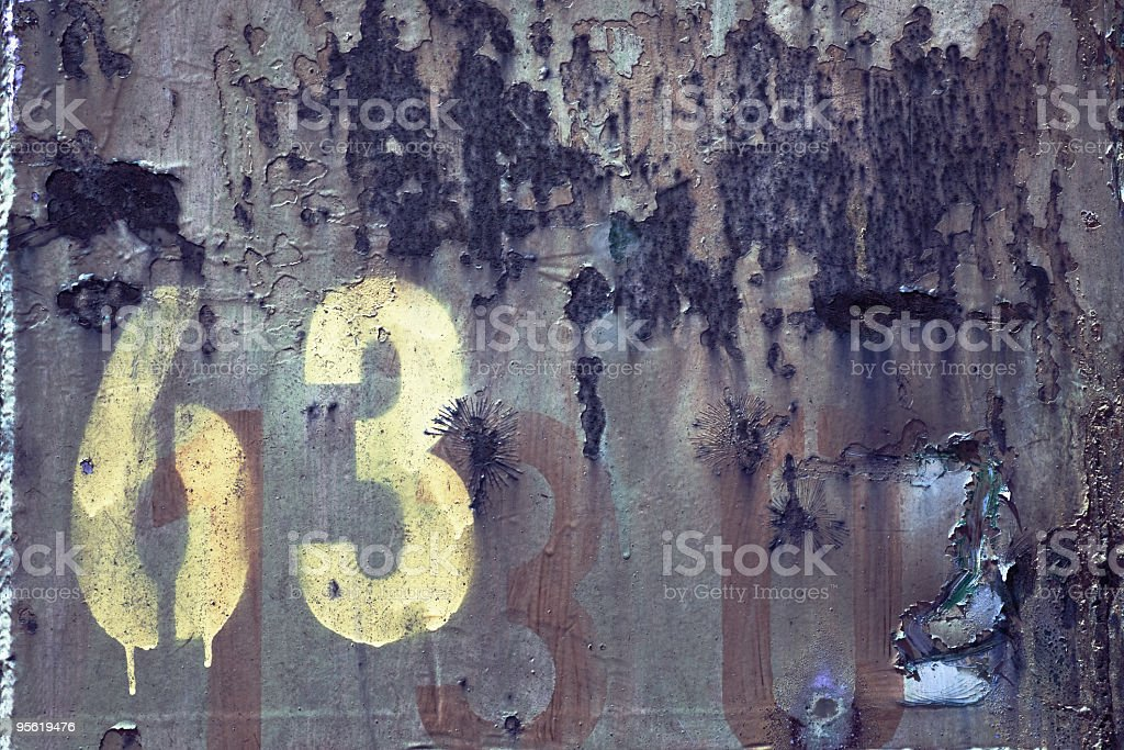 Numbers 63  and 130 stock photo