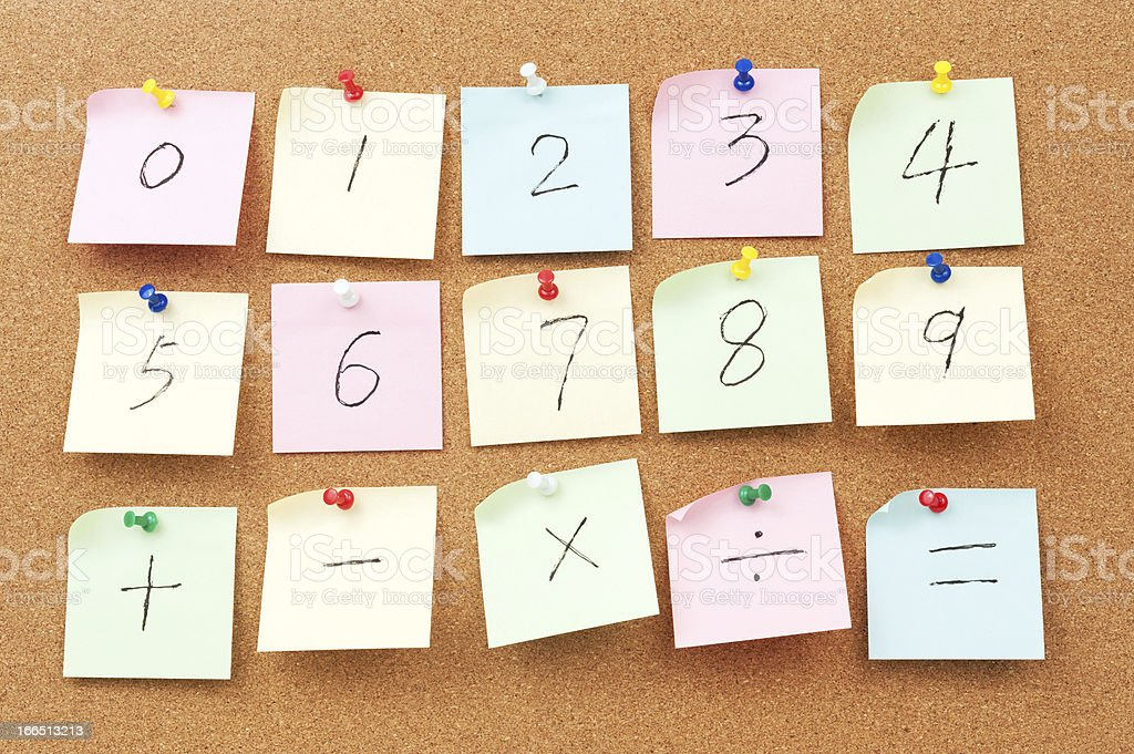 Numbers and Arithmetic operators stock photo
