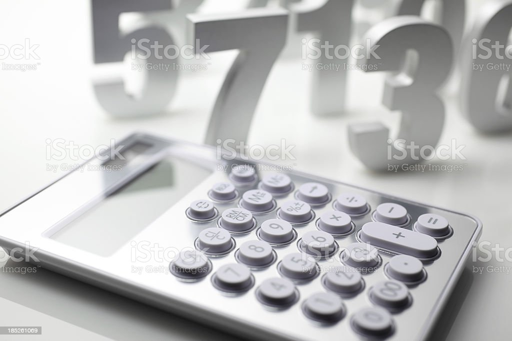 Numbers and Calculator royalty-free stock photo