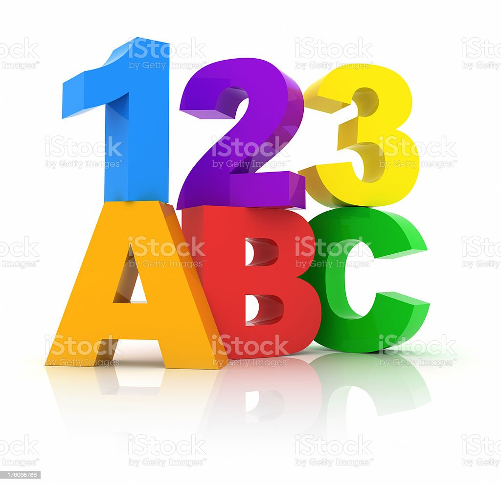 Numbers and Letters stock photo