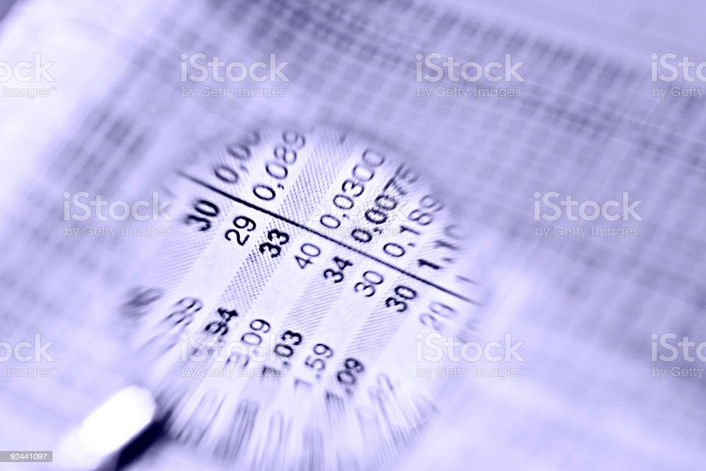 numbers and values royalty-free stock photo