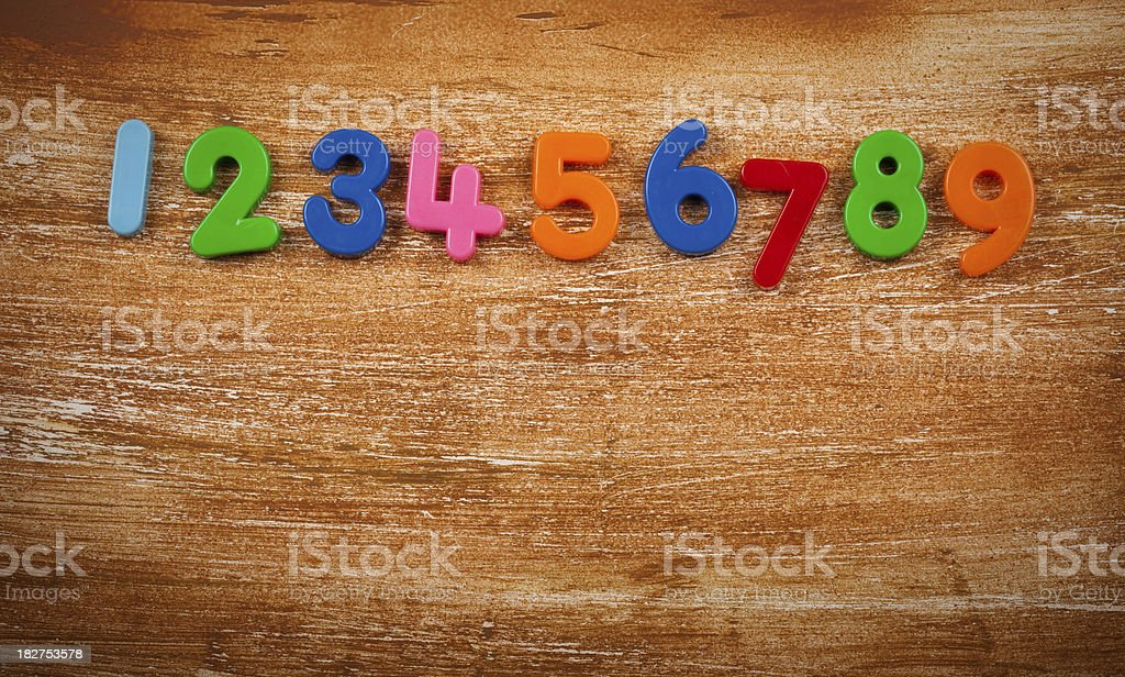 Numbers background with space for copy stock photo