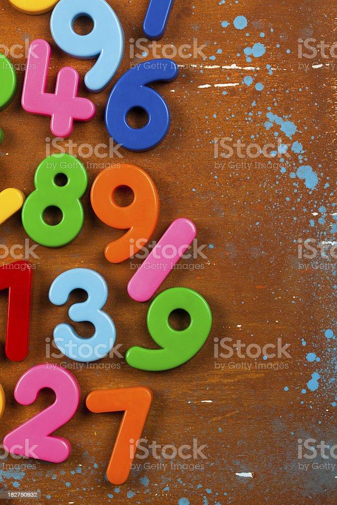 Numbers background xxxl stock photo