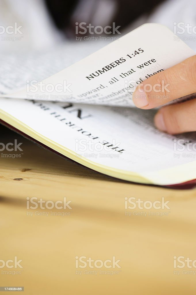 Numbers Book from Bible. royalty-free stock photo