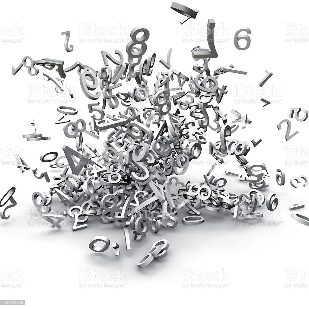 numbers exploded stock photo