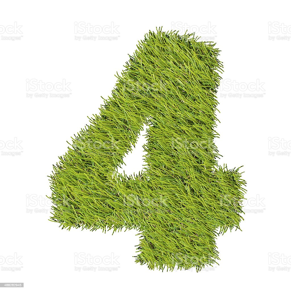 numbers from the green grass, isolated on white royalty-free stock photo
