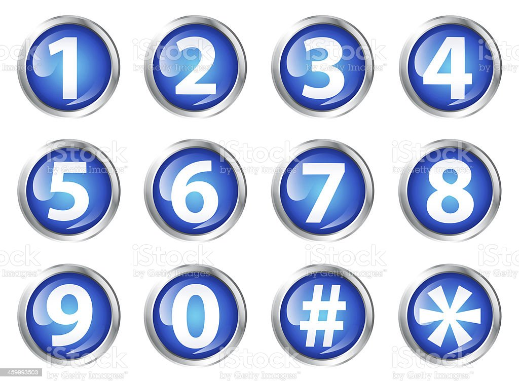 Numbers icon set stock photo
