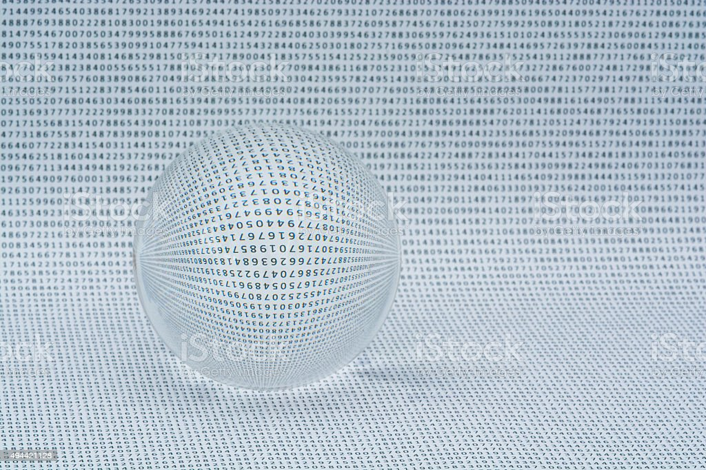 Numbers in Crystal Ball stock photo