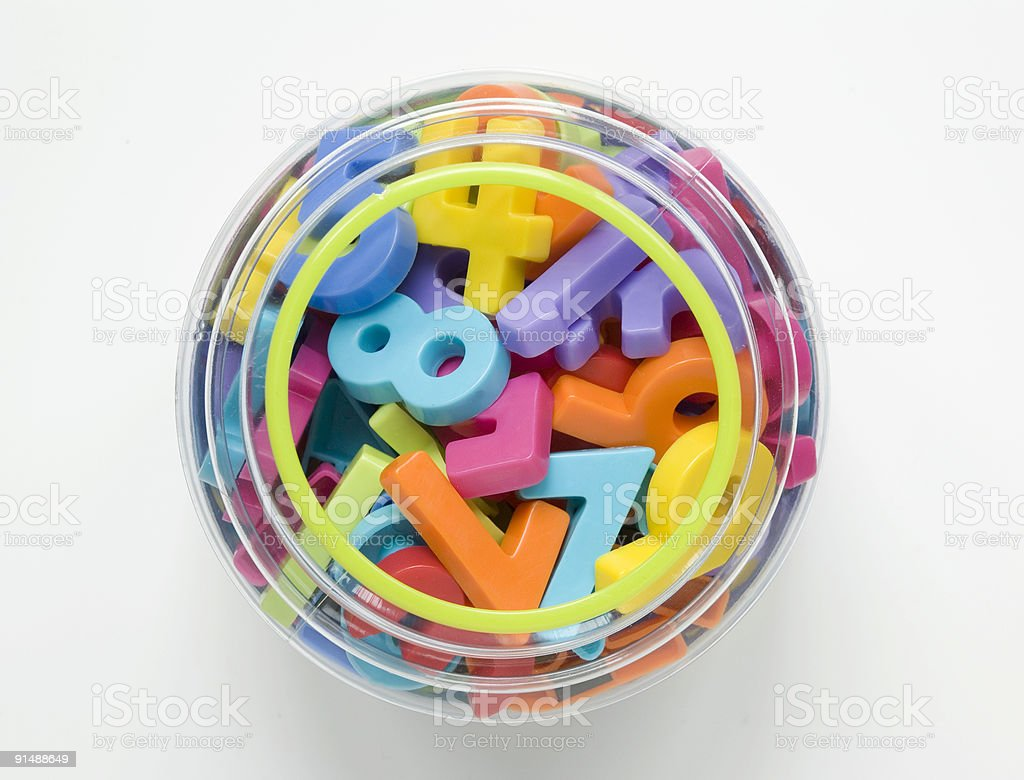 numbers in jar royalty-free stock photo