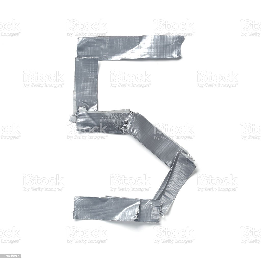 Numbers made out of tape royalty-free stock photo