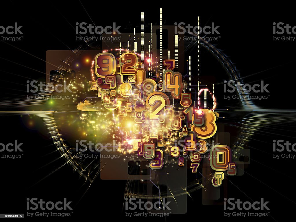 Numbers of Cloud Technology royalty-free stock photo