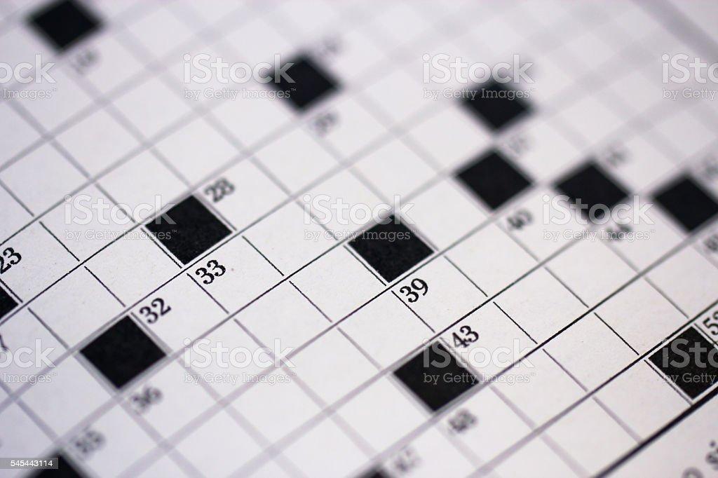 Numbers of crossword stock photo