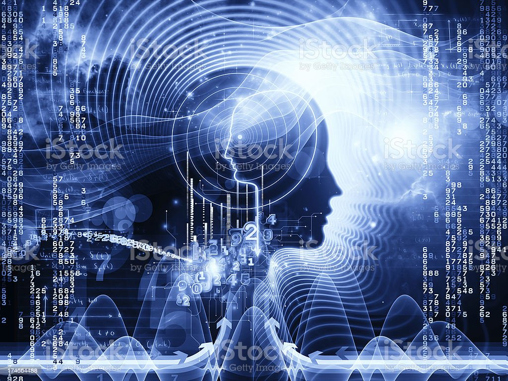 Numbers of Human Mind stock photo