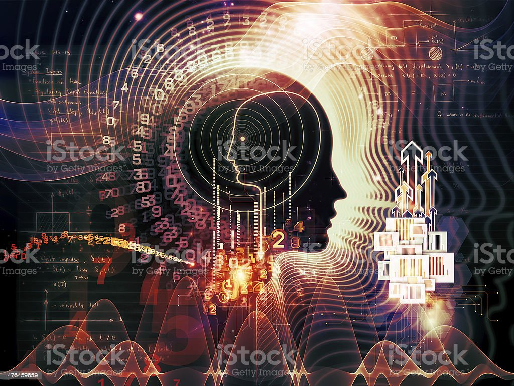 Numbers of Human Mind royalty-free stock photo