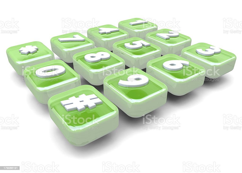 numbers of phone - 3D royalty-free stock photo