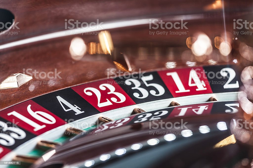 Numbers of Roulette royalty-free stock photo