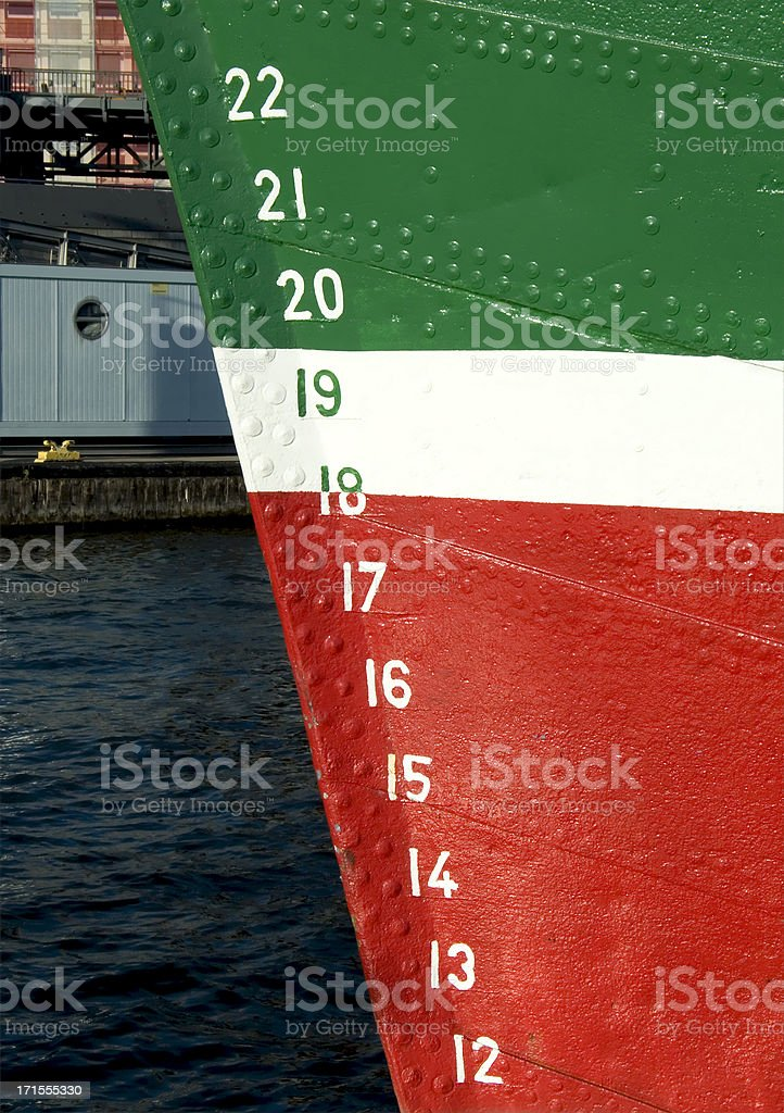 numbers on a boat royalty-free stock photo
