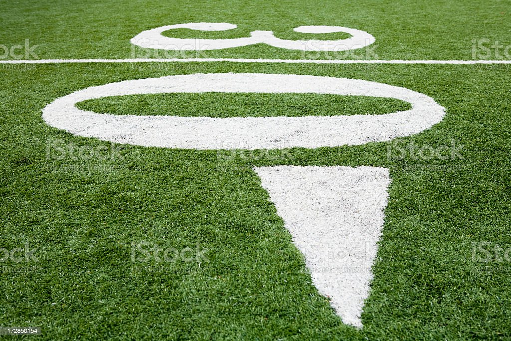 Numbers on a football field royalty-free stock photo