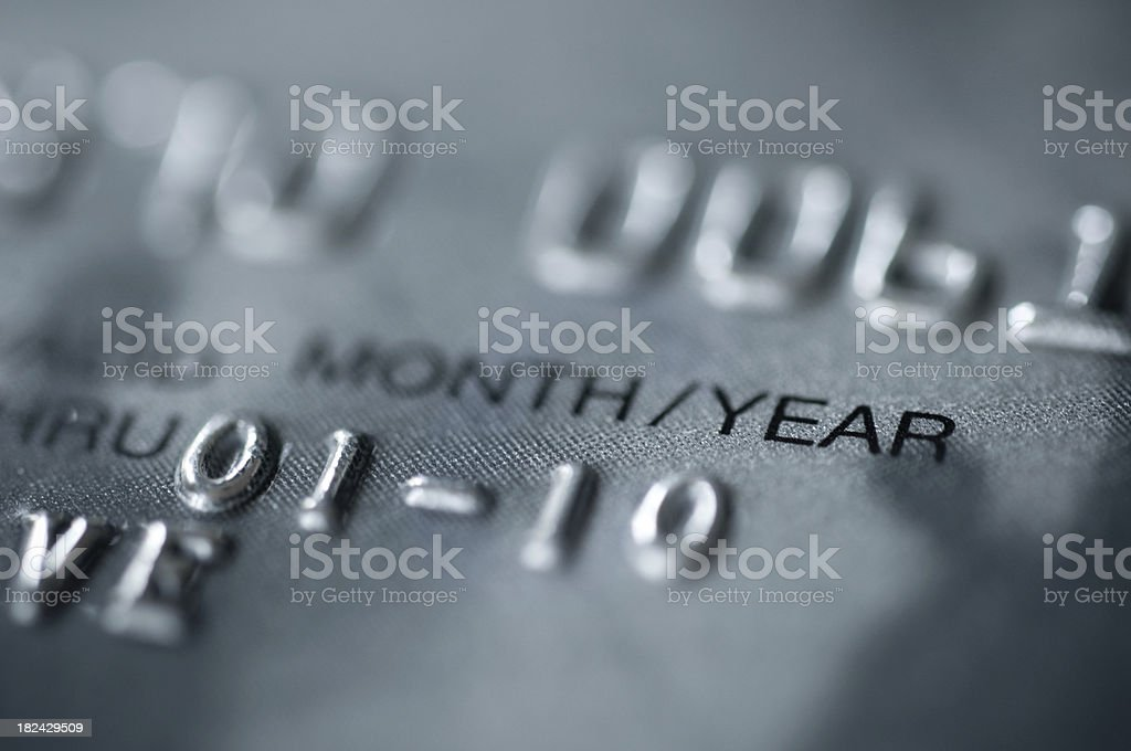numbers on credit card stock photo