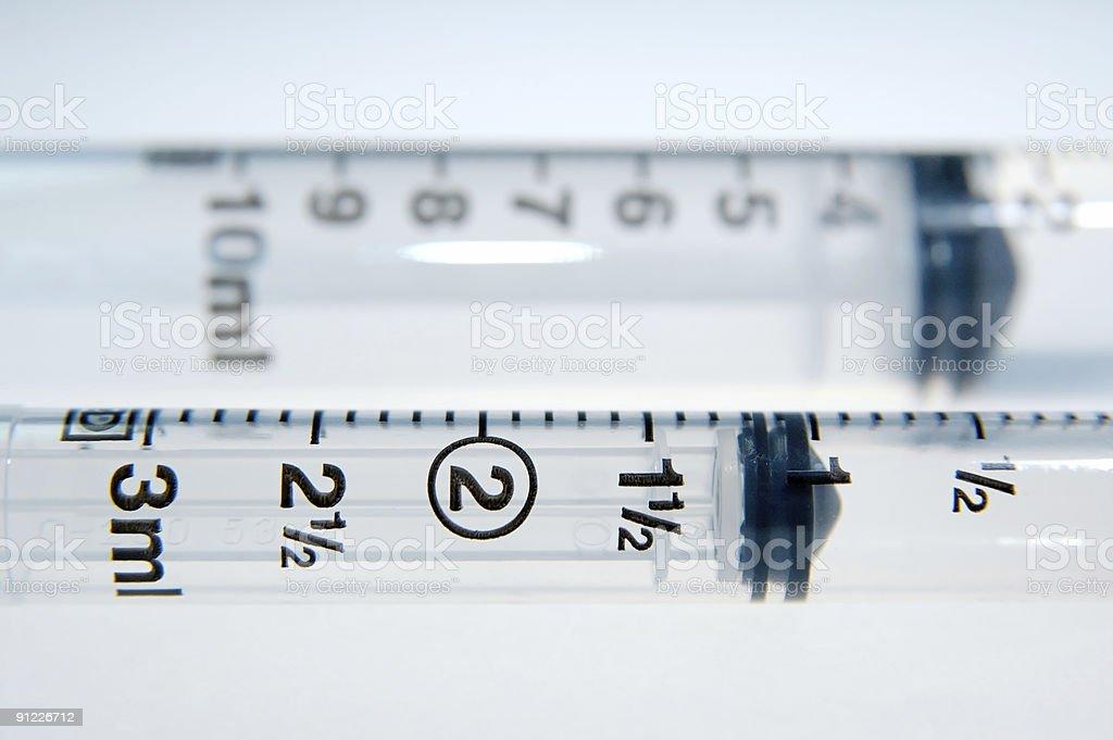 numbers on syringe stock photo