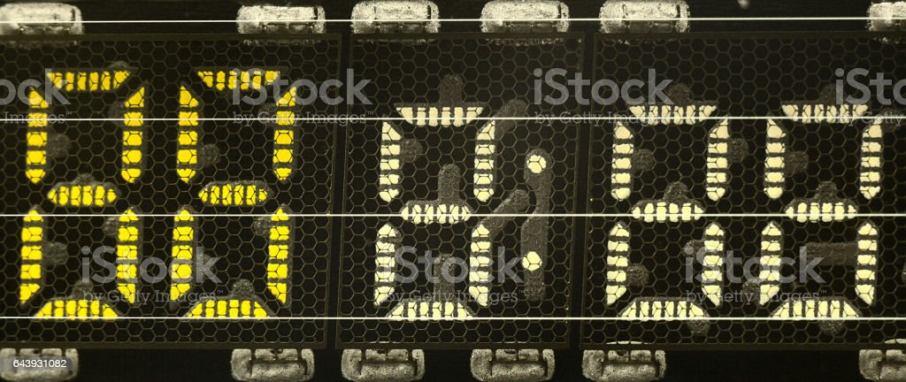 numbers on  video player display stock photo