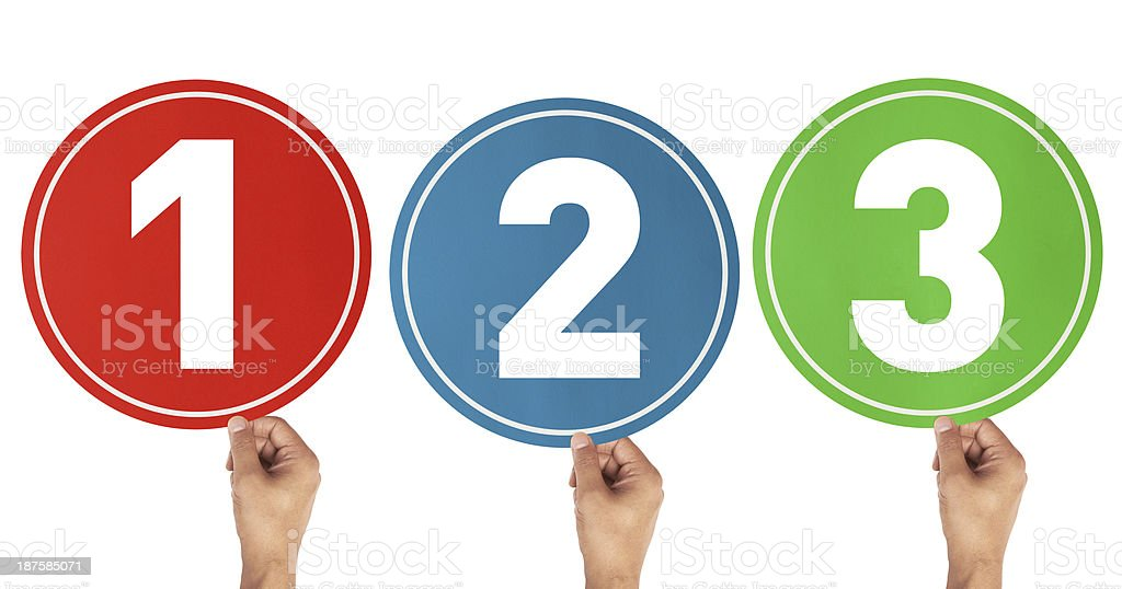 1, 2, 3 Numbers stock photo