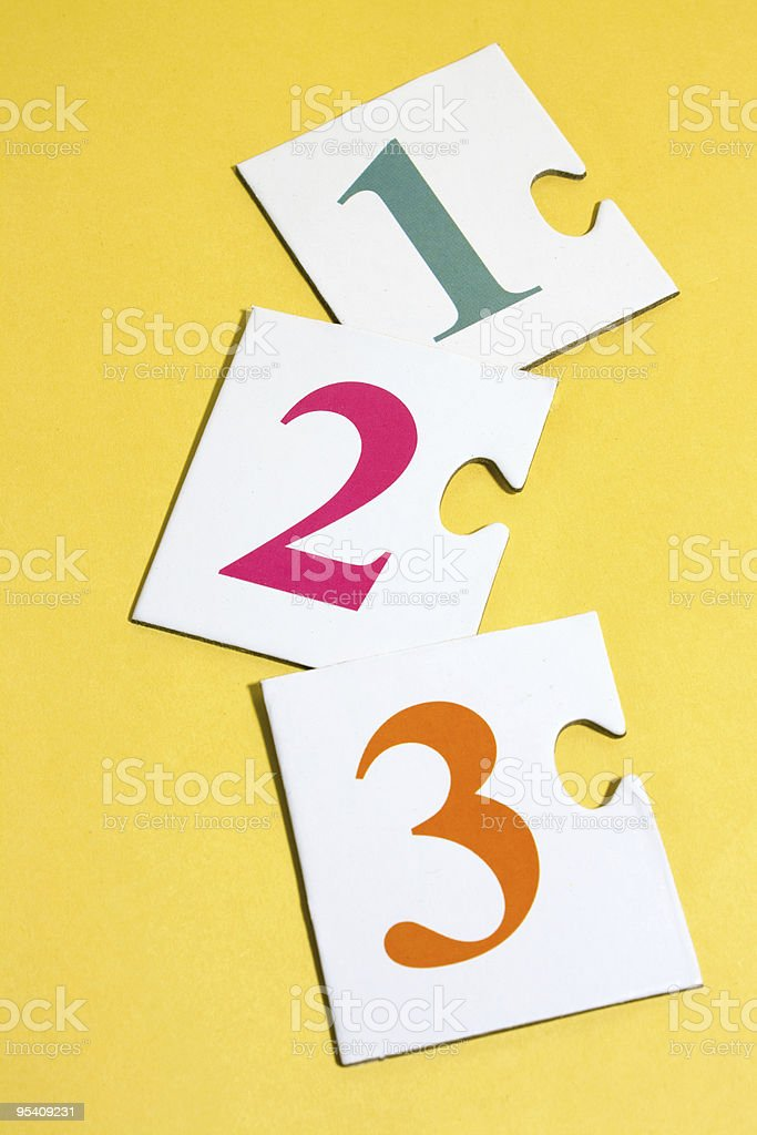 Numbers puzzle royalty-free stock photo