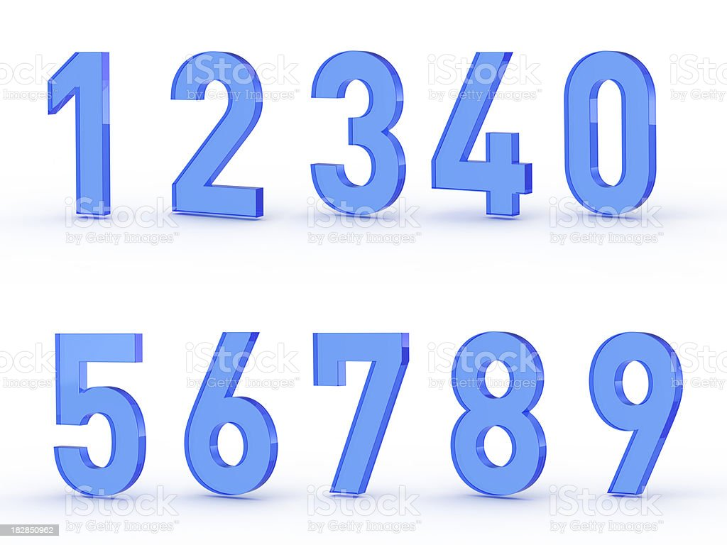 Numbers set royalty-free stock photo