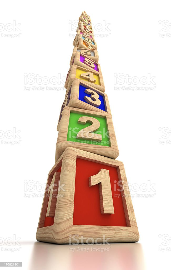 Numbers to high royalty-free stock photo