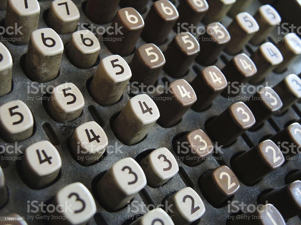 numbers typewriter royalty-free stock photo