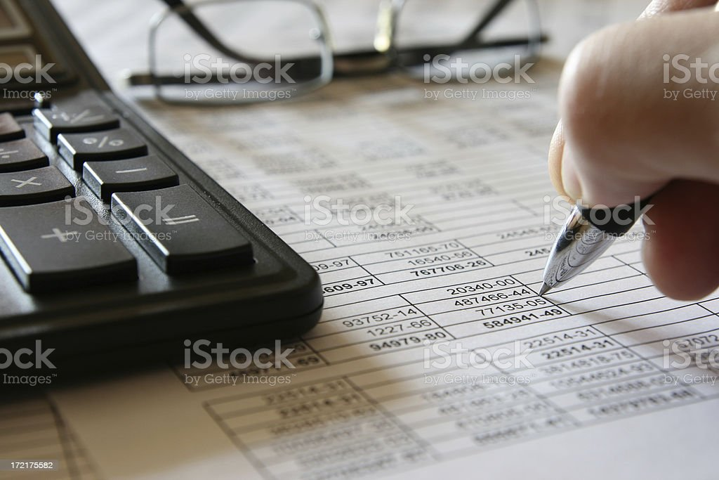 numerals and finance 3 stock photo