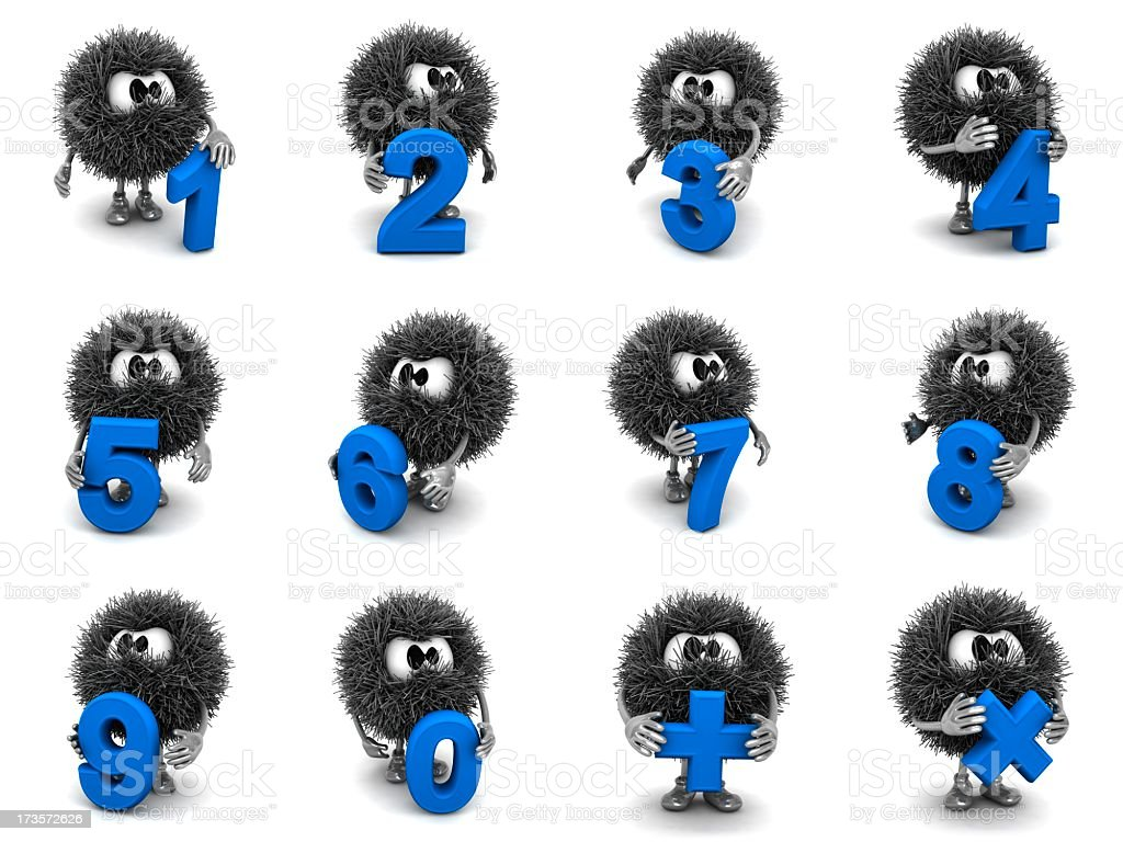 Numerals and Sphefurs royalty-free stock photo