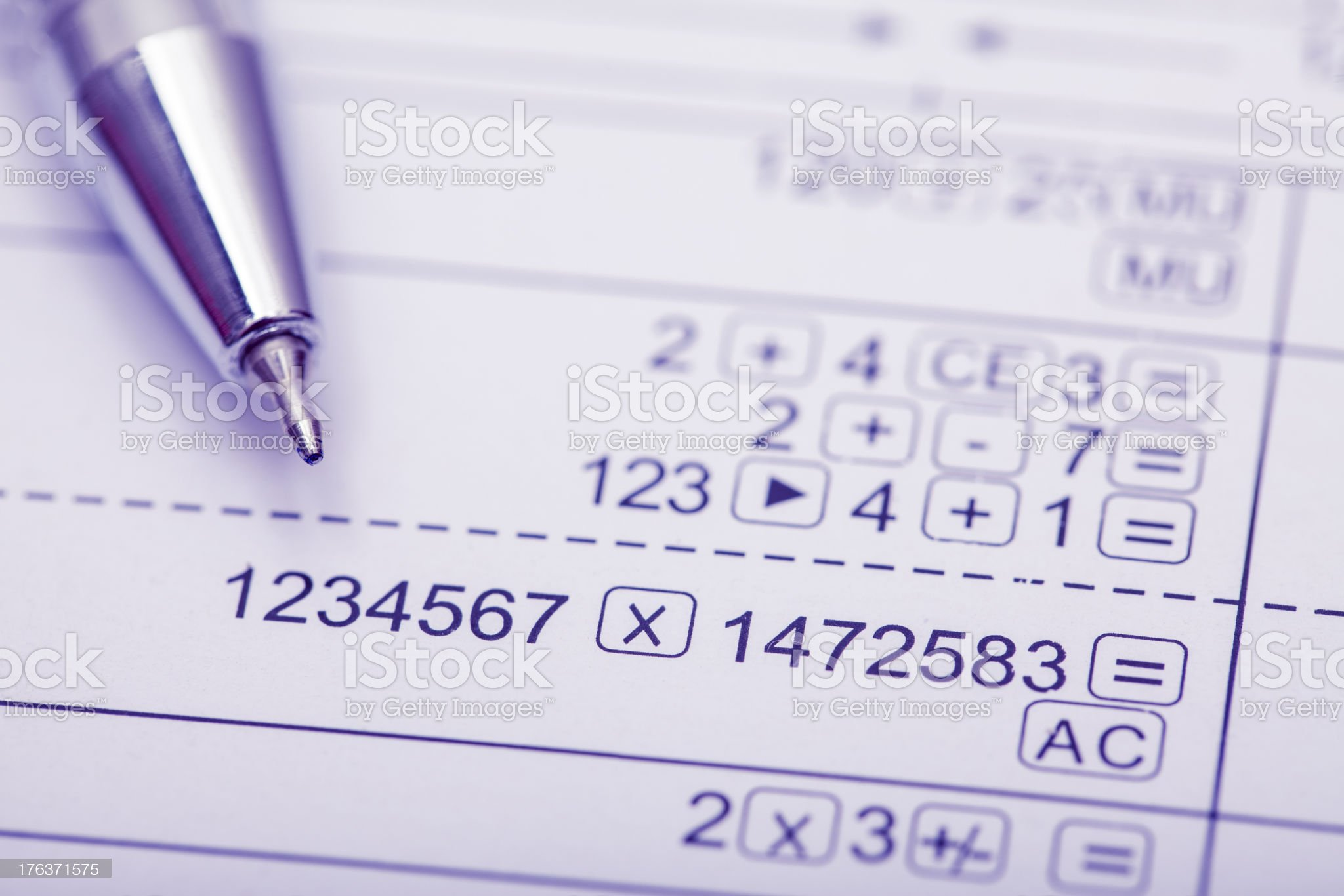 numerals royalty-free stock photo
