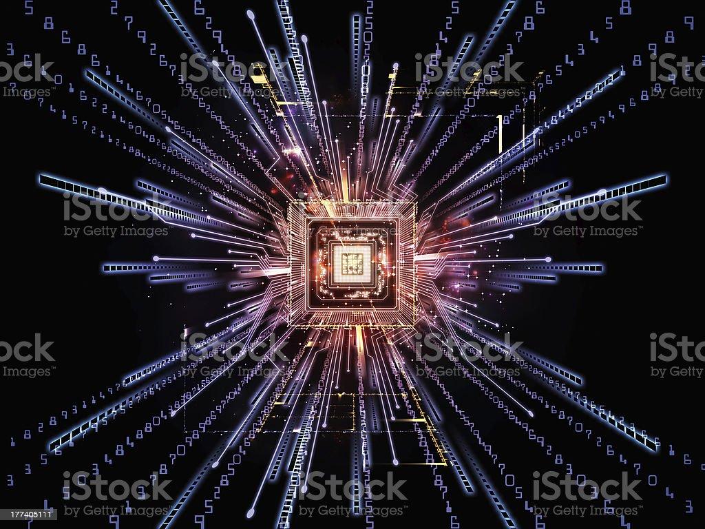 Numeric Computer stock photo