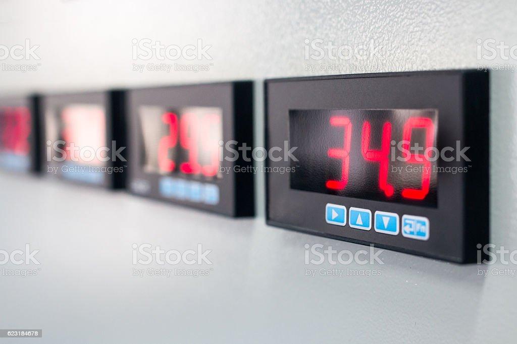 Numeric display stock photo