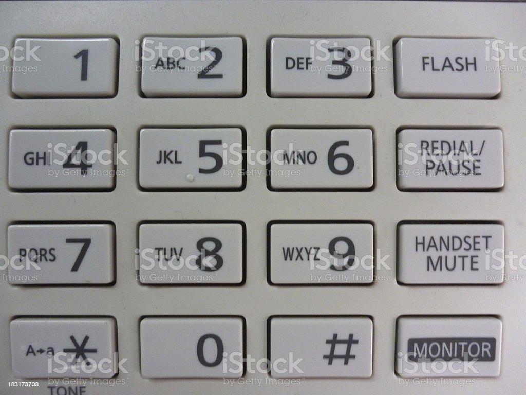 numeric keypad royalty-free stock photo