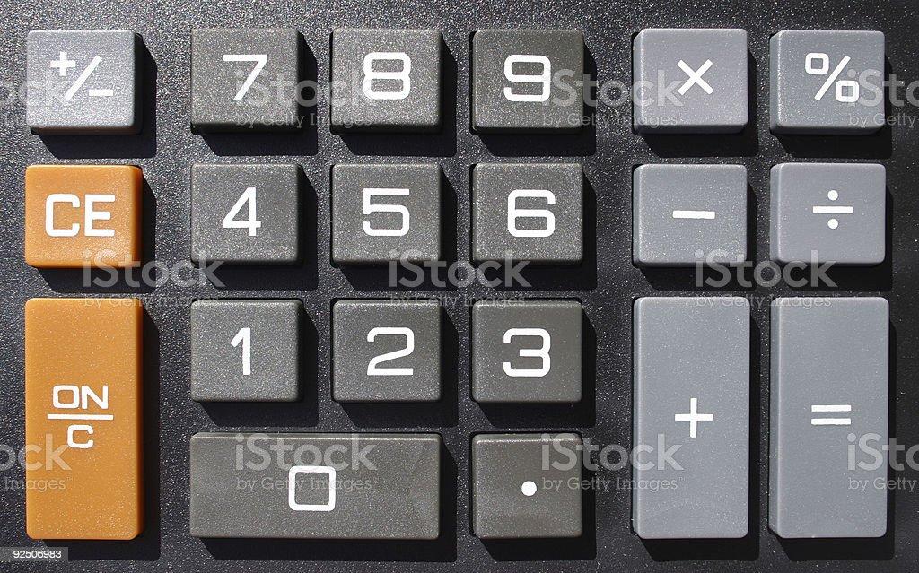 Numeric keys stock photo