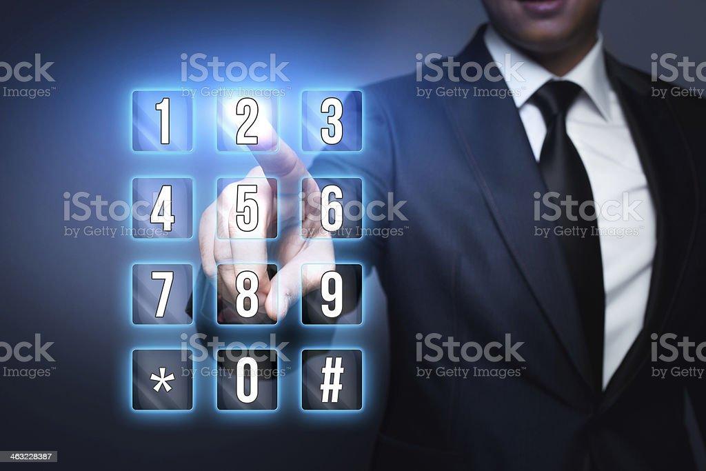 Numeric Virtual Keyboard stock photo