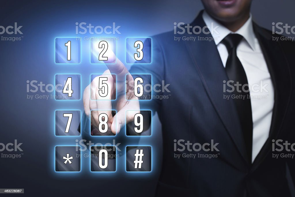 Numeric Virtual Keyboard stock photo
