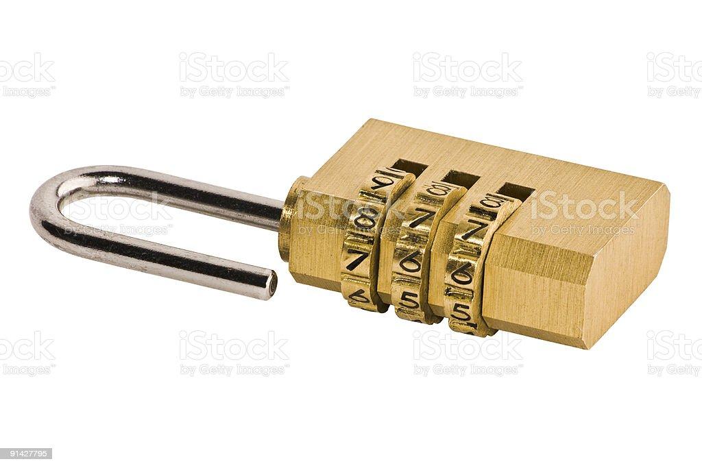 Numerical combination padlock royalty-free stock photo