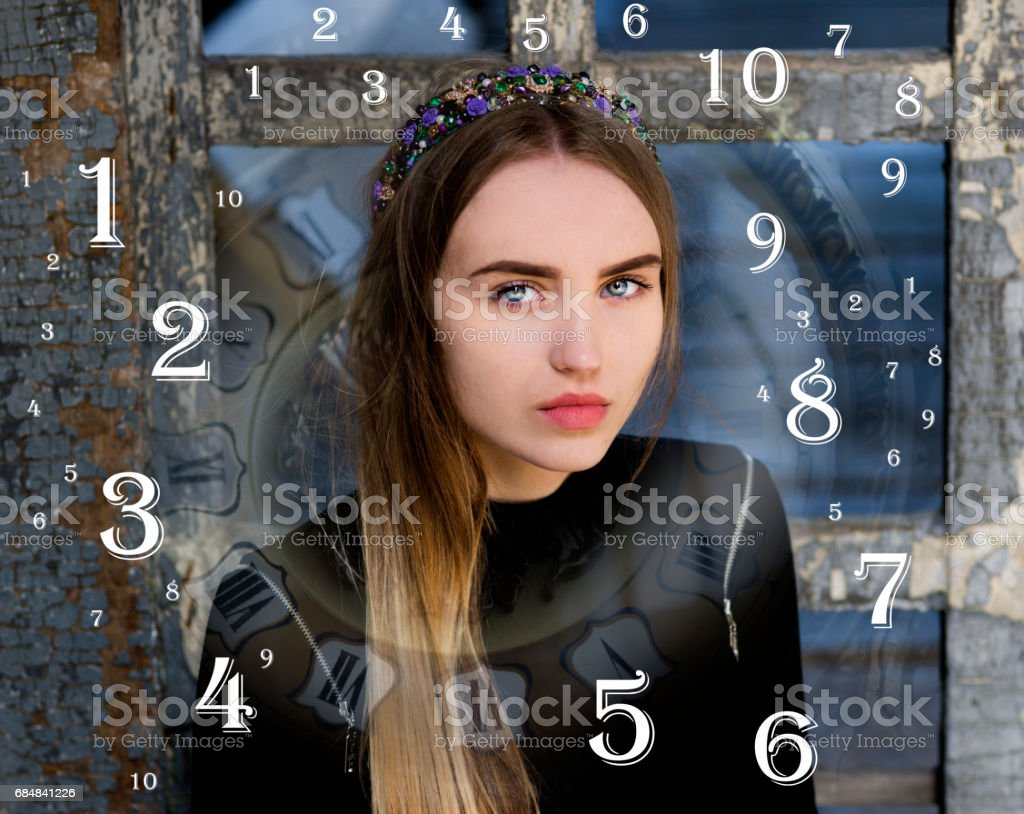 numerology, magic of numbers stock photo