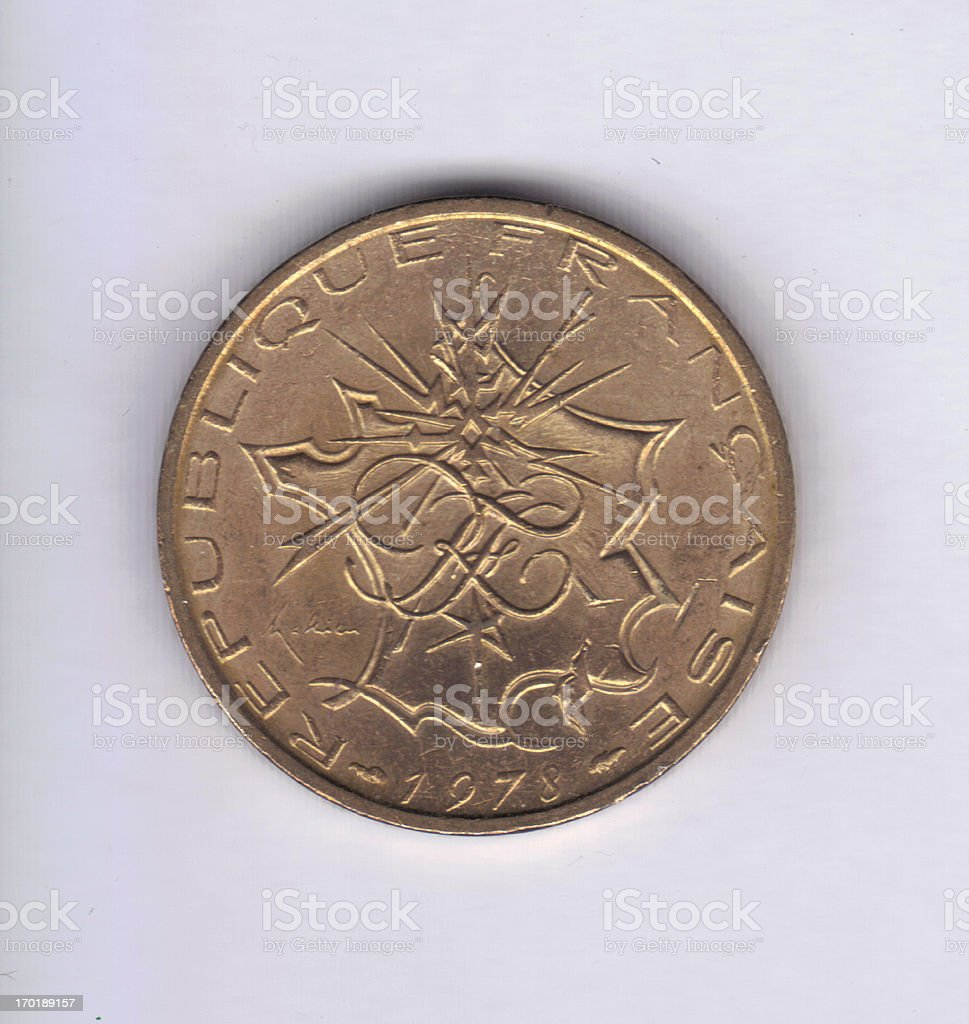 Numismatic Coin: 1978 France 10 Francs royalty-free stock photo