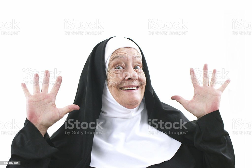 nun series - hallelujah days stock photo