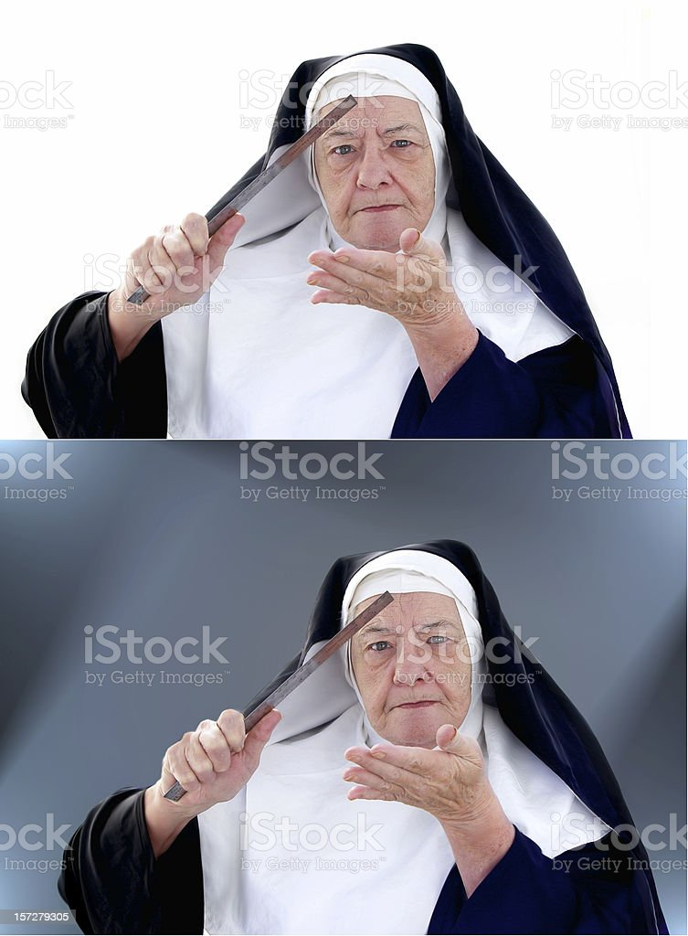 Nun Series -  the ruler royalty-free stock photo