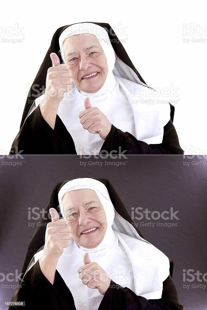 Nun Series - Thumbs Up royalty-free stock photo