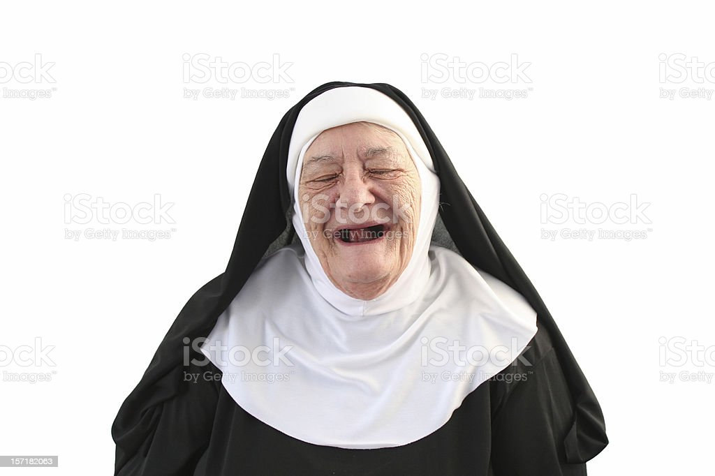 Nun Series - Toothless Laugh stock photo