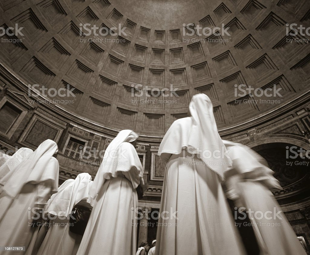 Nun Statues in Pantheon stock photo