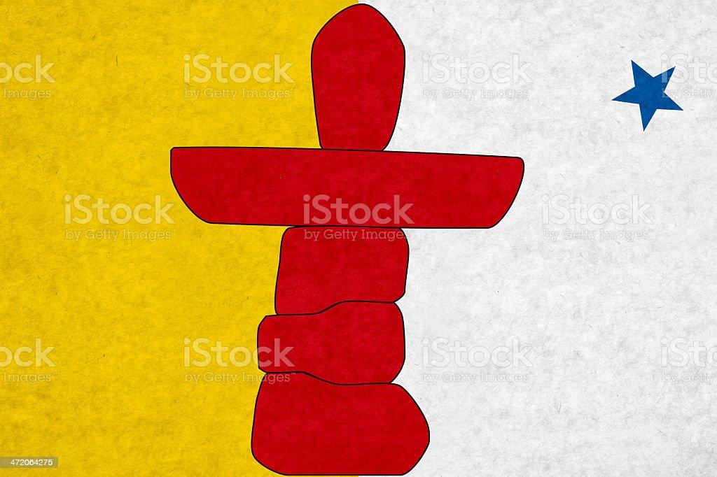 Nunavutflag stock photo