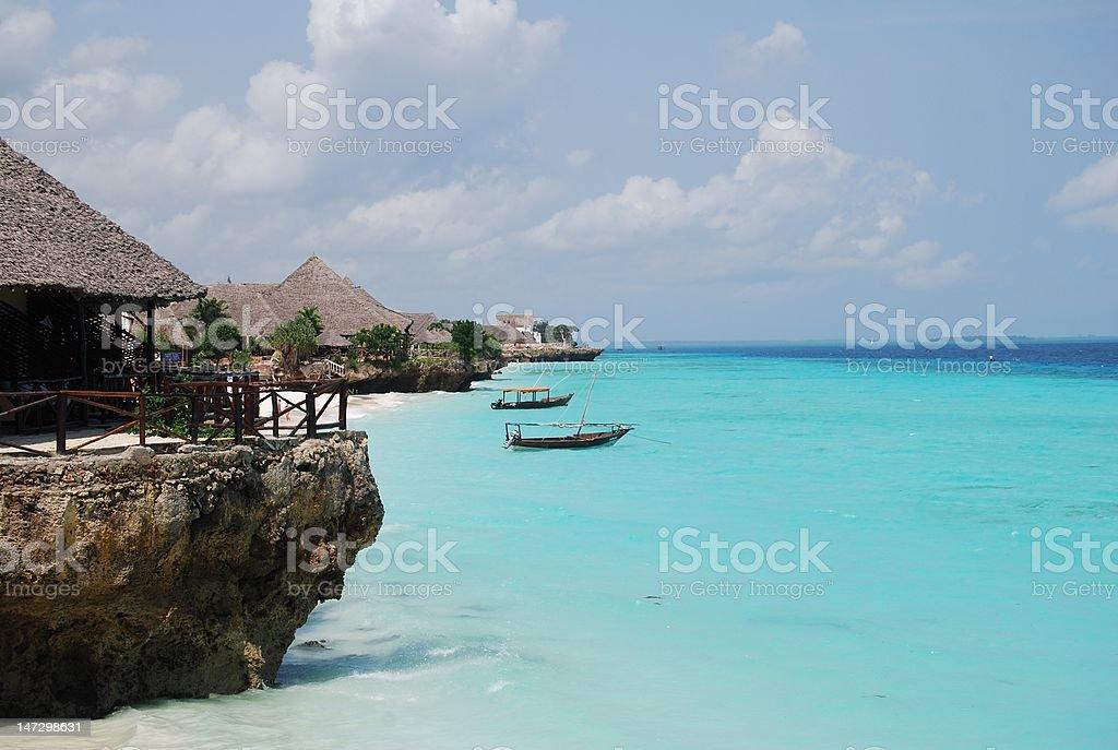 Nungwi Beach Zanzibar stock photo
